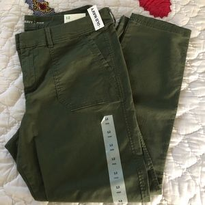 NWT Ankle length green chinos